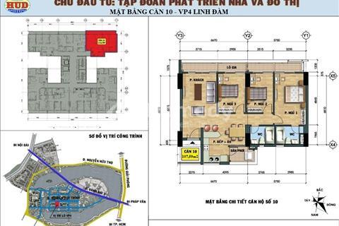 Bán căn hộ chung cư Vp4 Linh đàm, tầng 12 căn 10