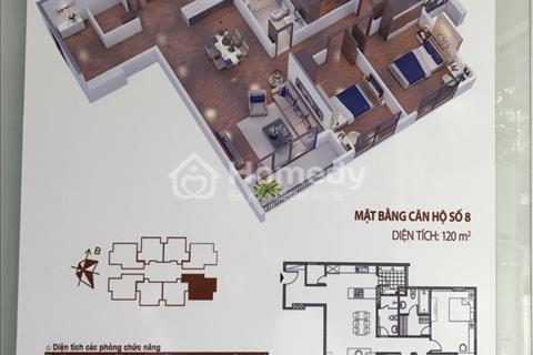 Chính chủ cần bán căn góc 08, hướng Đông Nam, 120m2 đẹp nhất tòa T3 dự án CT15 Việt Hưng