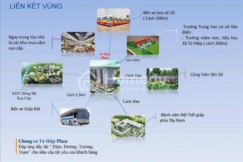 Chỉ 400 triệu bạn đã sở hữu ngay căn hộ thiết kế 2 phòng ngủ, 2 wc tại dự án chung cư Tứ Hiệp Plaza