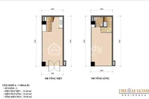 Những căn Shophouse đẹp nhất, giá trị sinh lời cao nhất dự án Dream Home Gò Vấp, giá tốt nhất