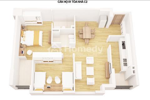 Cần bán căn 01-10 diện tích 71.3m2 tòa C2 dự án C1C2 Xuân Đỉnh. Kí Hợp đồng trực tiếp, không phí