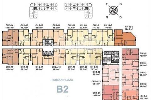Bán suất ngoại giao chung cư Roman Plaza giá chỉ từ 24 triệu/m2. Liền hệ ngay