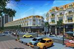 Phối cảnh tổng quan của khu nhà phố thương mại 24h thuộc tiêu khu đô thị mới Vạn Phúc. Tất cả cá căn hộ đều được xây cất theo lỗi kiến trúc cổ pha lẫn cách tân sang trọng, lịch lãm với các mặt tiền đều hướng ra phố Tố Hữu.