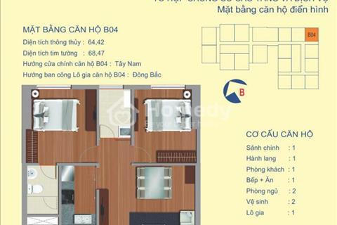 Bán căm chung cư B4 (64,42 m2), 1,6 tỷ full nội thất, 122 Vĩnh Tuy