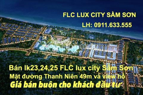 Bán liền kề 13 FLC Lux City Sầm Sơn, Thanh Hóa căn mặt đường thông giáp đường Hồ Xuân Hương