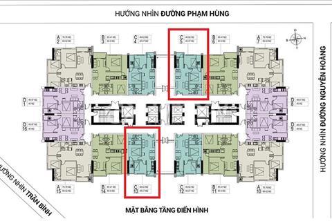 Cần bán căn suất ngoại giao 1,3 tỷ/căn 2 phòng ngủ, 2 wc tại 18 Phạm Hùng