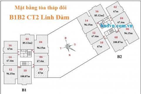 Bán căn 08 tòa B2 diện tích 100,87 m2 chung cư B1B2 Linh Đàm