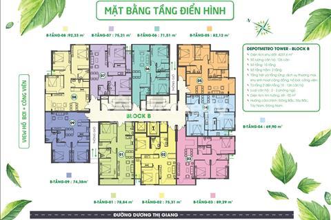 Sang nhượng căn hộ Metro Tham Lương với giá hấp dẫn 1,74 tỷ gồm 3 phòng ngủ