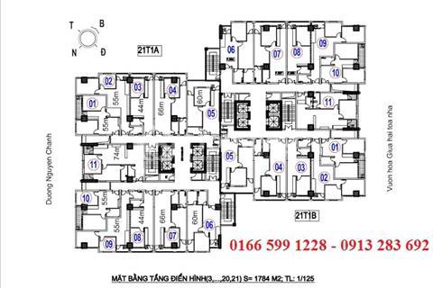 Nhượng lại suất mua căn hộ A14B2. Căn hộ góc, ban công thoáng mát. Căn hộ 1005 tòa nhà A14B2