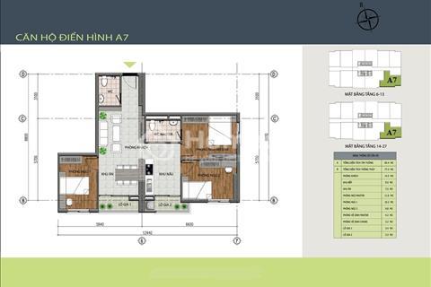 Bán căn 2-3 phòng ngủ giá rẻ căn hộ Hồng Hà Tower, 89 Thịnh Liệt căn 55 m2 đến 82 m2 tầng đẹp