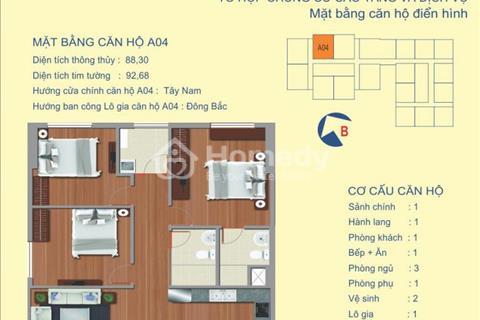 Bán căn 3 phòng ngủ chung cư 122 Vĩnh Tuy, căn view toàn cảnh sông Hồng, đẹp nhất dự án