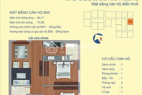 Bán căn 2 phòng ngủ chung cư 122 Vĩnh Tuy, căn hộ view sông Hồng đẹp nhất hiện giờ, nội thất đầy đủ