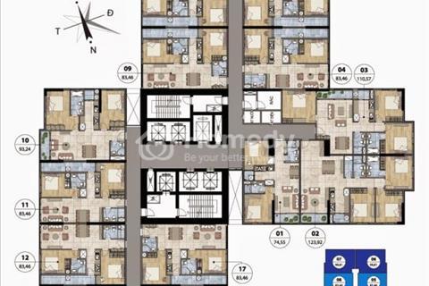 Chính chủ bán chung cư Goldmark City 83,4 6m2, tầng 1505, Ruby 2. Bán lỗ giá 1,8 tỷ