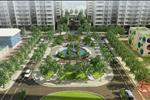 Quảng trường xanh ngắt với mật độ xây dựng chỉ 38% mang lại cho Green River một không gian sống xanh, thoáng mát.