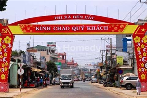 Bán đất chợ Bến Cát, ngay mặt tiền đường Hùng Vương, giá chỉ 350 triệu/nền