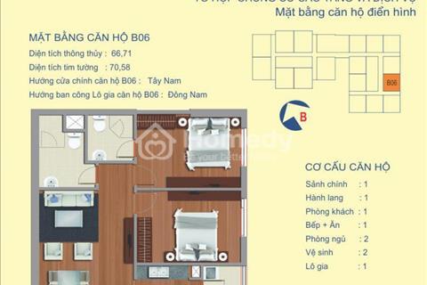 Bán tòa B chung cư Udic 122 Vĩnh Tuy căn 66 m2 view sông chính chủ