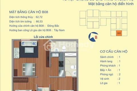 Chung cư Udic 122 Vĩnh Tuy bán tòa B căn 62 m2, tầng 15 suất ngoại giao