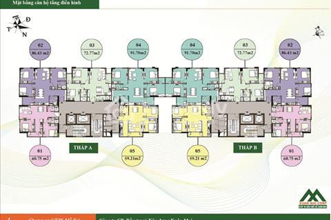 Bán căn hộ 72,77 m2 toà CT2E vov - view nhìn vinhome green bay - nhận nhà ở ngay