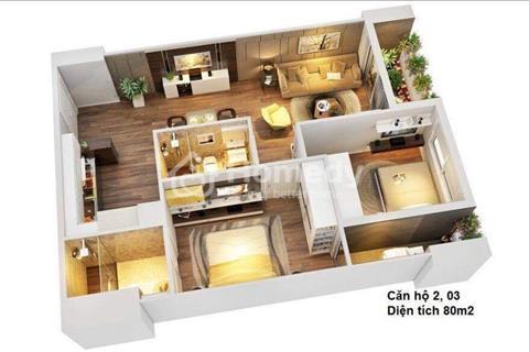 Chính chủ cần bán căn hộ 2 phòng ngủ, diện tích 80 m2, ban công đông nam, rẻ hơn 100 triệu