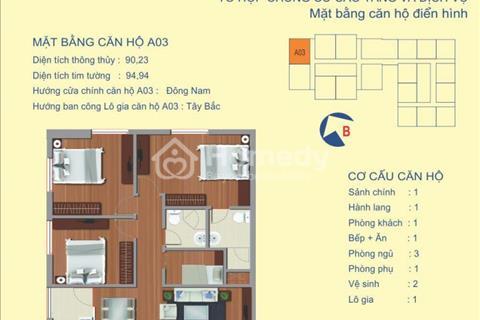 3 phòng ngủ view sông Hồng, 2,3 tỷ full nội thất, dự án 122 Vĩnh Tuy