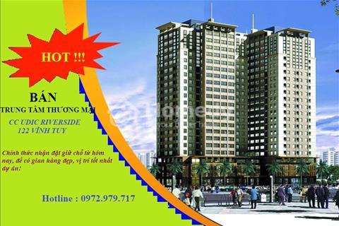 Mở bán sàn trung tâm thương mại - Chung cư 122 Vĩnh Tuy - Udic Riverside