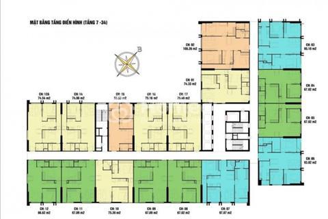 Bán gấp căn hộ vip nhất Chung cư Eco Green, số 2107 - CT4 (94,87 m2) giá 24 triệu/m2