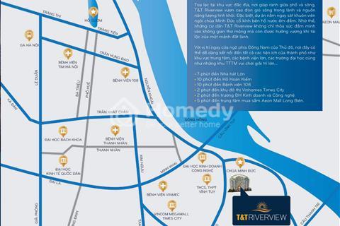 T&T Riverview Hoàng Mai - Chỉ với 1,9 tỷ sở hữu căn hộ 3 phòng ngủ trực diện sông Hồng