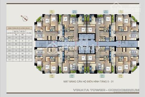 Hot 10 suất ngoại giao Vinata Tower mở bán trong tháng 6/2017