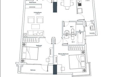 Cần bán căn hộ cao cấp Him Lam Riverside Quận 7, nội thất đầy đủ 102 m2, sổ hồng. Giá 3,6 tỷ