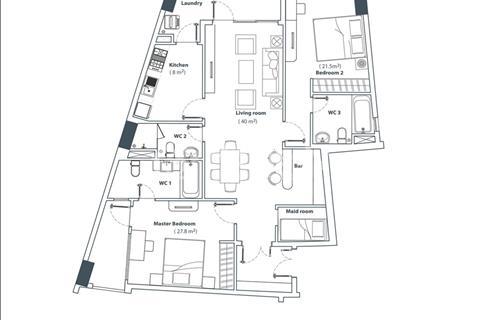 Bán căn hộ Him Lam Riverside Quận 7, 117 m2 tặng nội thất, sổ hồng. Giá 4,2 tỷ