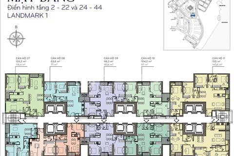 Cho thuê căn hộ Vinhomes Central Park, 2 phòng ngủ, 1 WC, 62,5 m2, full nội thất