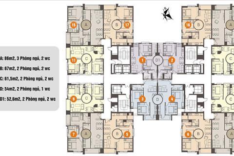 Chủ căn hộ 16-09 Mon City Hải Đăng tòa B, diện tích 61,5 m2 - 25 triệu/m2 (view Hàm Nghi)