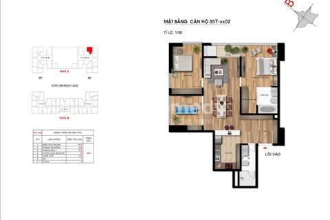 Bán chung cư Imperia Garden, 91,4 m2, phòng 1502, A-35T, bán lỗ giá 32 triệu/m2