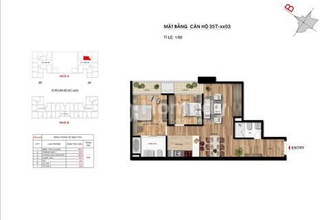 Bán gấp căn hộ chung cư Imperia Garden, diện tích 73,9 m2, tầng 1603, A-35T, giá lỗ 2,4 tỷ