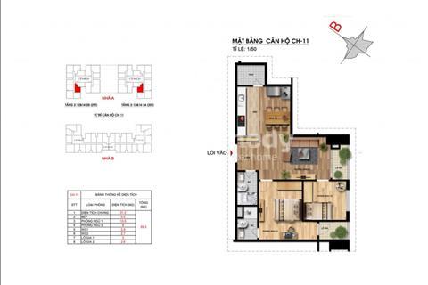 Bán chung cư Imperia 203 Nguyễn Huy Tưởng, tầng 11, tòa B, diện tích 69,1 m2, giá 2,3 tỷ
