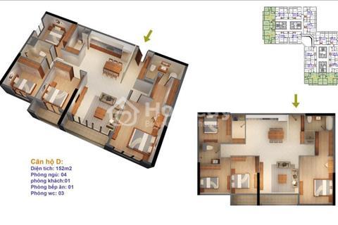 Bán cắt lỗ căn hộ tầng 15.14 tòa Ruby 4 chung cư Goldmark 23 tầng, 160 m2, giá 23 triệu/m2