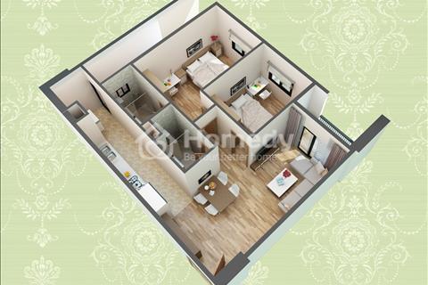 Bán căn hộ 72,6 m2, 2 phòng ngủ, tầng 10 tòa H2 hướng Nam tại HUD3 Nguyễn Đức Cảnh giá rẻ.