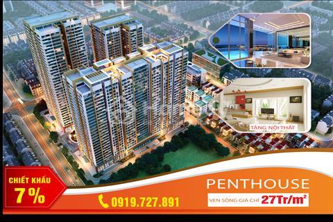 Căn hộ Penthouse ven sông, ngay chân cầu Tân Thuận 2 giá chỉ 27 triệu/m2, tặng nội thất