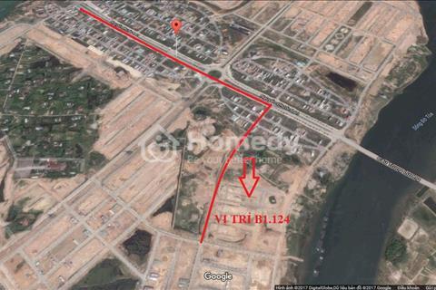 Cần bán B1.124 lô 32 Hòa Xuân mở rộng, đường thông, cách siêu thị Metro 500 m