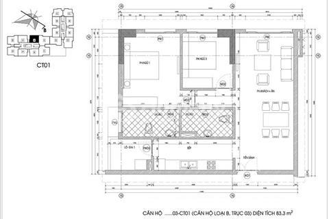 Chính chủ bán gấp chung cư Viện 103 Văn Quán tầng 1215, diện tích 77,71 m2, bán 16,5 triệu/m2