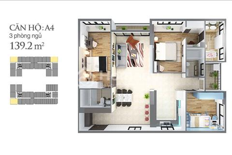 Cần bán gấp căn hộ 3 phòng ngủ ngay tại Vincom Tân Sơn Nhất 140 m2 tầng 9 giá bán 4,8 tỷ/căn