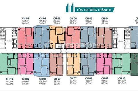Bán gấp căn hộ 143,3 m2 và 74,4 m2 chung cư Tràng An Complex giá 32 triệu/ m2.