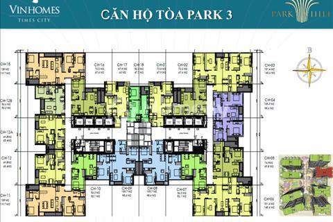 Bán căn hộ chung cư Park Hill, Park 3, Dt: 74,9m2, tầng 1505, giá lỗ 2,6 tỷ