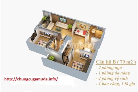 Căn hộ 2 PN chung cư Gamuda Hoàng Mai - The Two Residence. View bể bơi và khu đô thị cao cấp