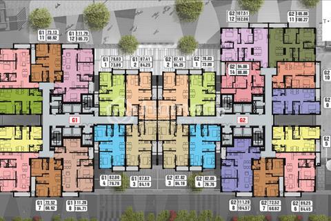 Bán rẻ CH Chung Cư Five Star Kim Giang, 73,89m2 ,tầng 1201, ở luôn, 22tr/m2