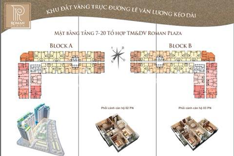 Duy nhất 20 suất ngoại giaochung cư Roman Plaza28 triệu/m2 full nội thất cao cấp