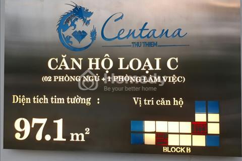 Kẹt tiền bán gấp căn hộ Q2 Centana Thủ Thiêm mặt tiền Mai Chí Thọ, Bán lỗ 80 triệu so với giá gốc.