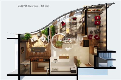 Căn hộ Penthouse City Garden 306 m2, tầng 27 có sổ hồng, bàn giao hoàn thiện