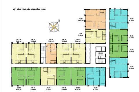 Bán cắt lỗ chung cư Eco Green căn 1505, 67 m2 CT4, giá 23 triệu/ m2.
