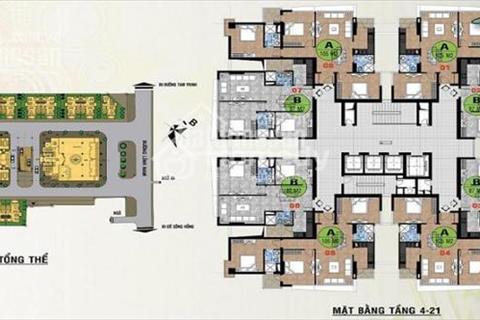 Chung cư 52 Lĩnh Lam, căn 1604 (115 m2), căn 1803 (92 m2), giá 14 triệu/ m2